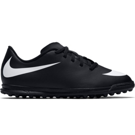 Buty piłkarskie Nike Bravatax Ii Tf Jr 844440-001 czarne czarny