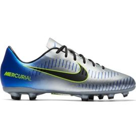Buty piłkarskie Nike Mercurial Victory 6 Neymar Fg Jr 921488-407 szary/srebrny srebrny