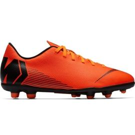 Buty piłkarskie Nike Mercurial Vapor 12 Club Mg Jr AH7350-810 pomarańczowe pomarańczowy