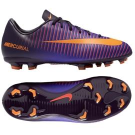 Buty piłkarskie Nike Mercurial Vapor Xi Fg Jr 831945-585 fioletowy fioletowe