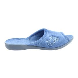 Befado obuwie damskie pu 256D003 niebieskie