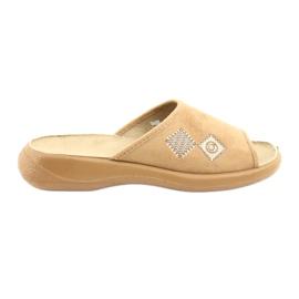 Befado obuwie damskie pu 442D186 brązowe
