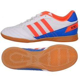 Puma Buty piłkarskie adidas Super Sala J In Jr FV2633 biały, niebieski, pomarańczowy