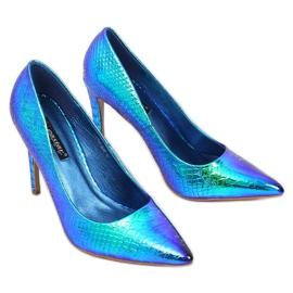 Szpilki holograficzne SY54P Blue wielokolorowe