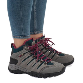 Szare damskie buty trekkingowe FS302-33
