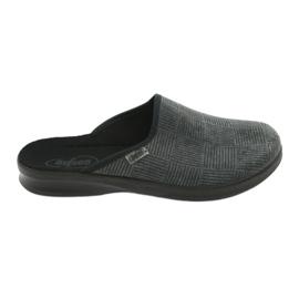 Befado obuwie męskie pu 548M014 czarne szare