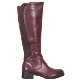 Ideal Shoes Klasyczne Oficerki czerwone