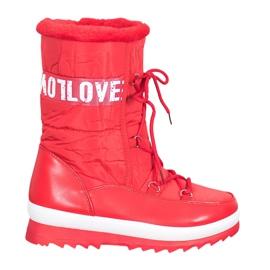 SHELOVET Śniegowce Love czerwone