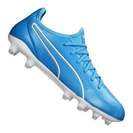 Buty piłkarskie Puma King Pro Fg M 105608-04 niebieskie niebieskie