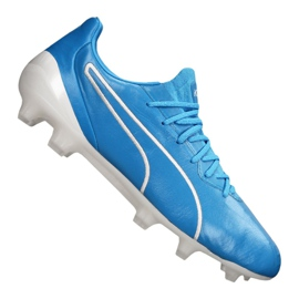 Buty piłkarskie Puma King Platinum Fg / Ag M 105606-01 niebieskie niebieski