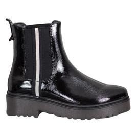 Sergio Leone Lakierowane Sztyblety Fashion czarne