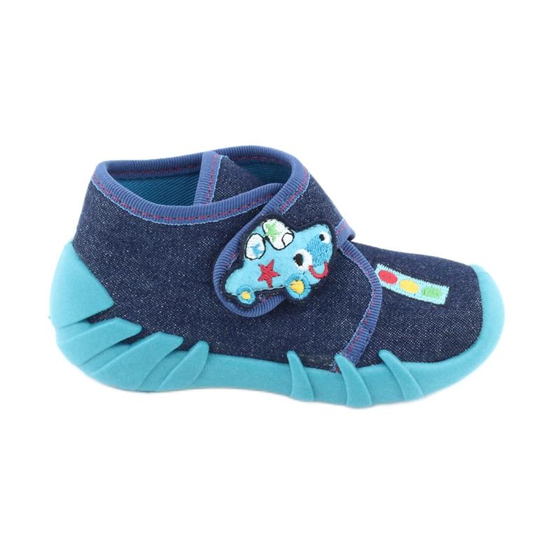 Befado obuwie dziecięce 523P015 granatowe niebieskie