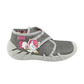Befado obuwie dziecięce 523P016 różowe szare