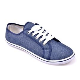 Jeansowe Trampki G1 Niebieski niebieskie