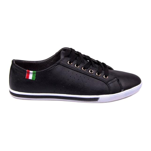Trampki Z Flagą Włoch 380 Czarny czarne