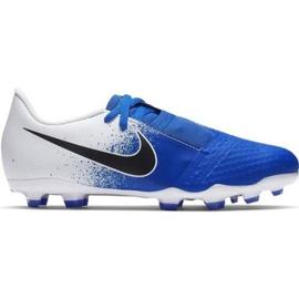 Buty piłkarskie Nike Phanton Venom Academy Fg Jr AO0362-104 niebieskie biały, niebieski