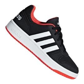 Buty adidas Hoops 2.0 Jr B76067 czarne czerwone