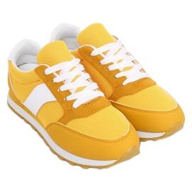 Buty sportowe miodowe BL189P Yellow żółte