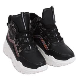 Buty sportowe za kostkę czarne RB-3348 Black