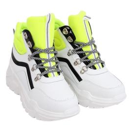 Buty sportowe za kostkę biało-żółte RB-3348 WHITE/YELLOW