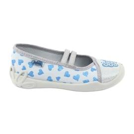 Befado serduszka obuwie dziecięce 116X267 niebieskie szare