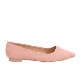 Baleriny w szpic różowe A822 Pink