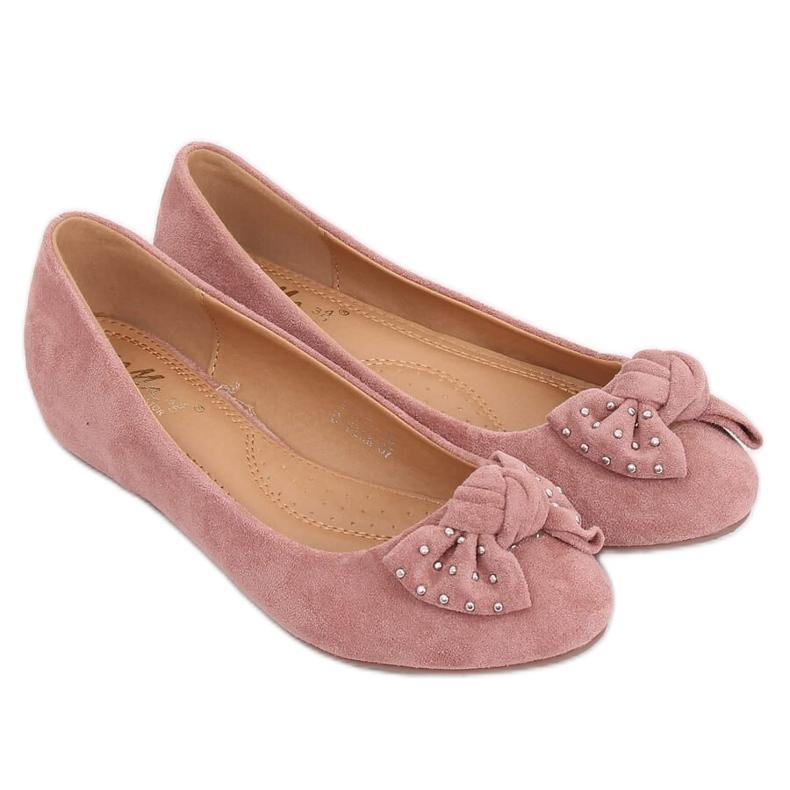 Baleriny na koturnie różowe FM217-13 Pink