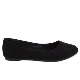 Baleriny gładkie czarne Z1005 Black