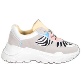 SHELOVET Sneakersy Fashion wielokolorowe