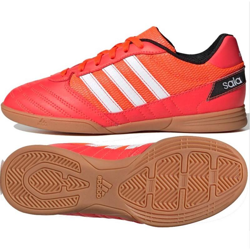 Buty halowe adidas Super Sala Jr FV2639 czerwone czerwony