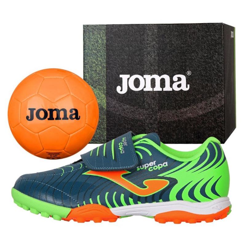 Buty piłkarskie Joma Super Copa Jr 2017 Tf Jr SCJS.2017.TF niebieskie niebieskie