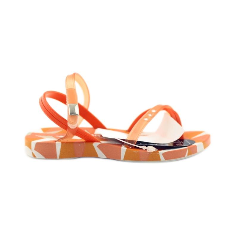 Buty dziecięce japonki do wody Ipanema 80360 pomarańczowe pomarańczowe