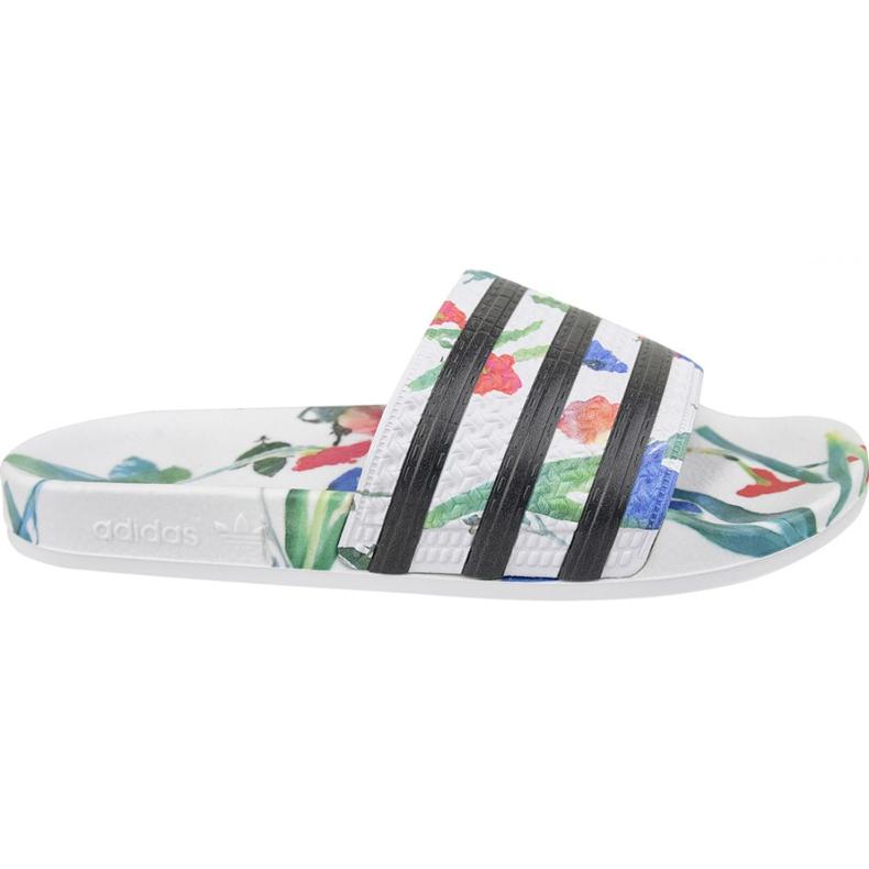 Klapki adidas Adilette W EE4851 białe wielokolorowe