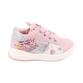 Buty Sportowe dziewczęce gwiazda American Club GC15 różowe szare