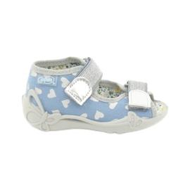 Befado obuwie dziecięce 242P101 niebieskie szare