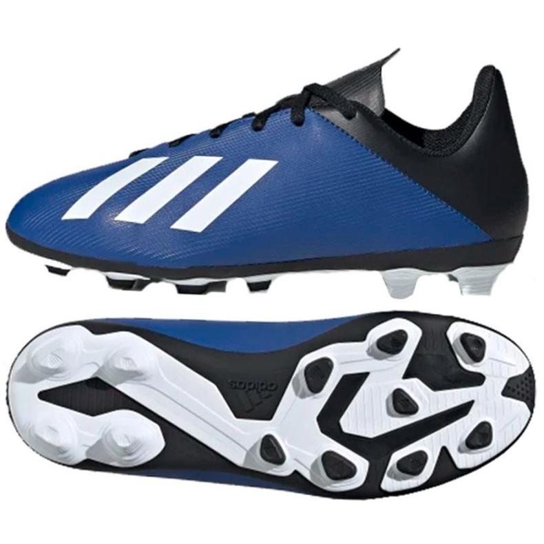 Buty piłkarskie adidas X 19.4 FxG Jr EF1615 niebieskie niebieskie