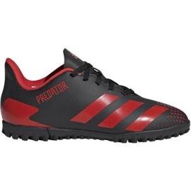 Buty piłkarskie adidas Predator 20.4 Tf Jr EF1956 czarne wielokolorowe