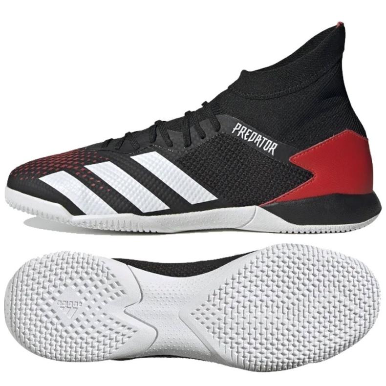 Buty halowe adidas Predator 20.3 In M EF2209 czarny, czerwony czarne