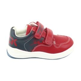Buty Sportowe na rzepy American Club GC18 czerwone granatowe