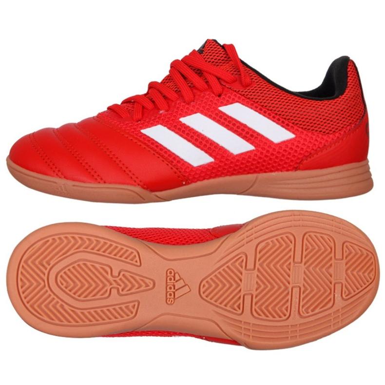 Buty halowe adidas Copa 20.3 In Sala Jr EF1915 czerwone czerwone