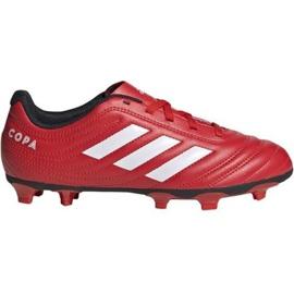 Buty piłkarskie adidas Copa 20.4 Fg Jr EF1919 czerwone czerwone