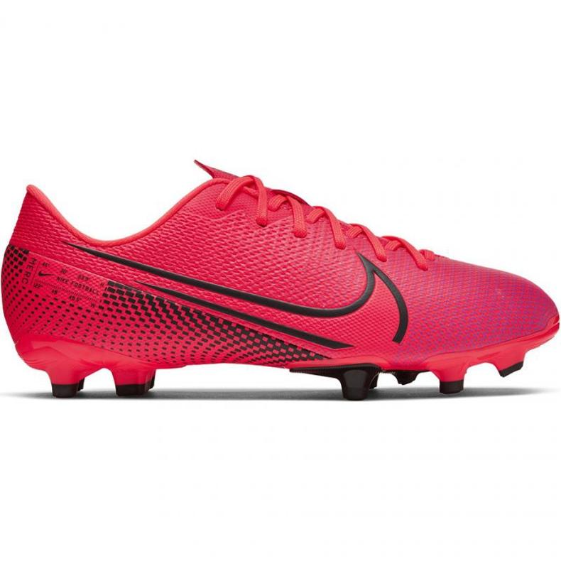 Buty piłkarskie Nike Mercurial Vapor 13 Academy FG/MG Jr AT8123-606 czerwone czerwone