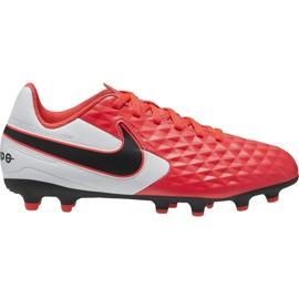 Buty piłkarskie Nike Tiempo Legend 8 Academy FG/MG Jr AT5732-606 czerwone czerwone