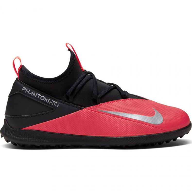 Buty piłkarskie Nike Phantom Vsn 2 Club Df Tf Jr CD4079-606 czerwone czerwone