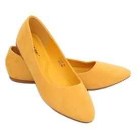 Baleriny gładkie zamszowe miodowe CC212P Mustand żółte