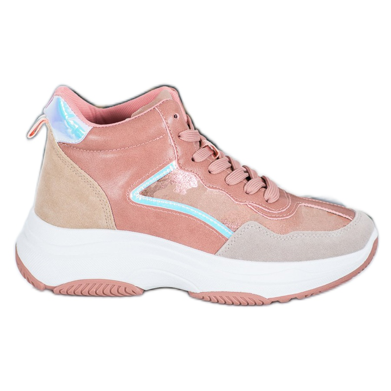 Ideal Shoes Wysokie Buty Na Platformie