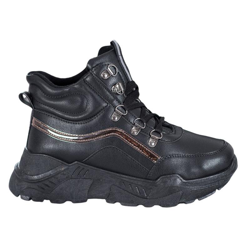Queentina Ocieplane Sneakersy czarne