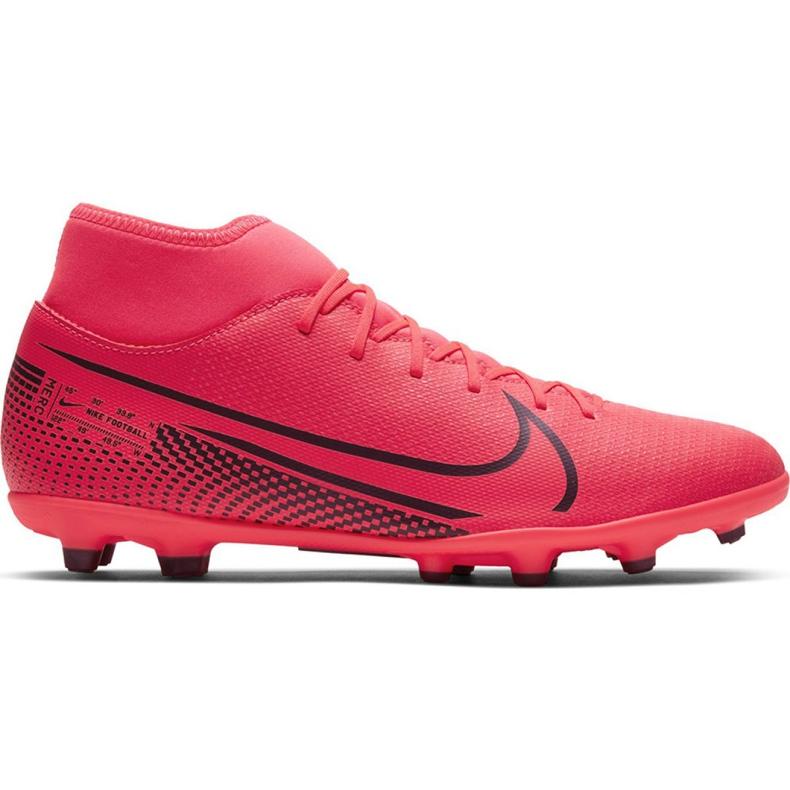 Buty piłkarskie Nike Mercurial Superfly 7 Club FG/MG M AT7949-606 czerwone czerwone
