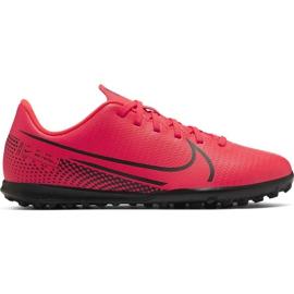 Buty piłkarskie Nike Mercurial Vapor 13 Club Tf Jr AT8177-606 czerwone czerwone