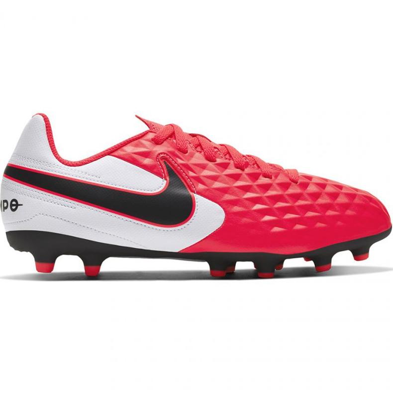 Buty piłkarskie Nike Tiempo Legend 8 Club FG/MG Jr AT5881-606 czerwone czerwone